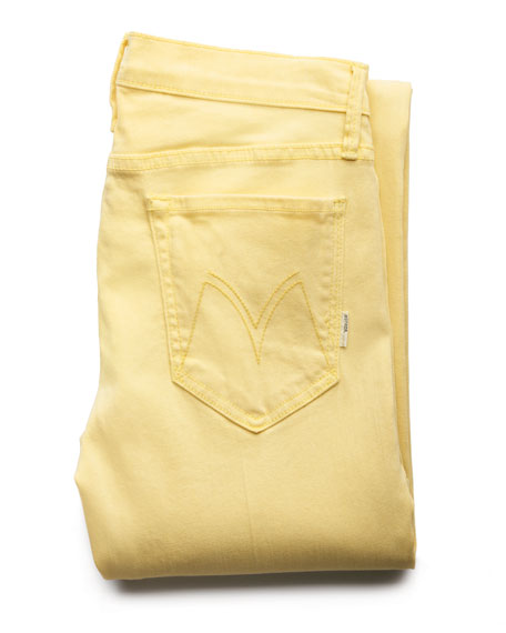 The Looker Lemon Cropped Jeans