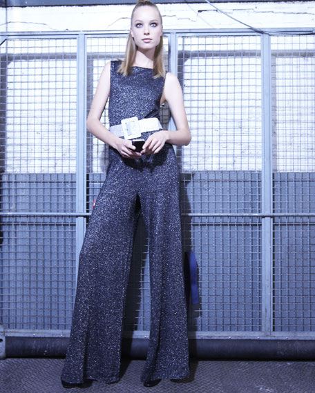 Sparkly Belted Jumpsuit