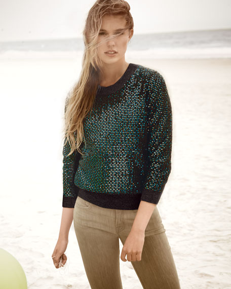 Sequined Cashmere Sweater