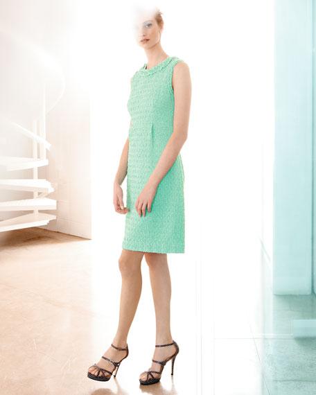terri sleeveless tweed dress