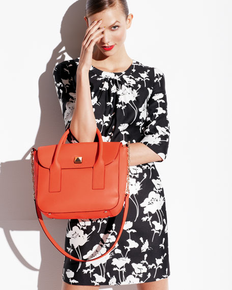 florence leather satchel