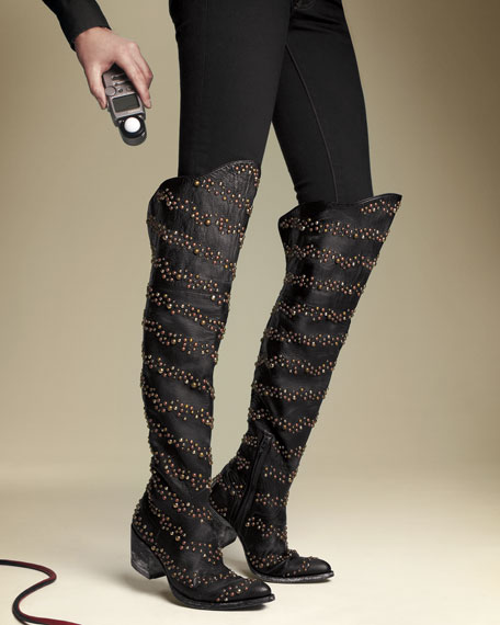 Old Gringo Studded Over-The-Knee Boot