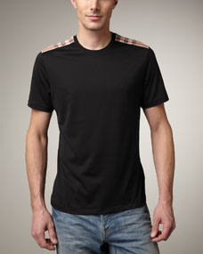 burberry mens shoulder patch tee