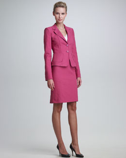 Armani Collezioni Tweed Suit Jacket, Skirt & Jersey Top