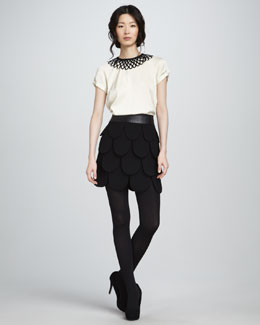 Milly Linde Top & Cleo Petal Skirt