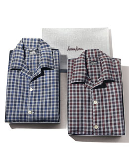Neiman Marcus Plaid Pajama Set