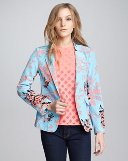 Nanette Lepore Bombastic Printed Blazer & Just Dance Sheer Top