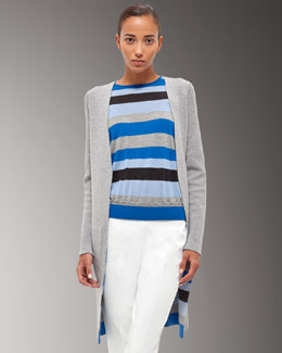 Akris Double-Faced Cashmere-Blend Cardigan