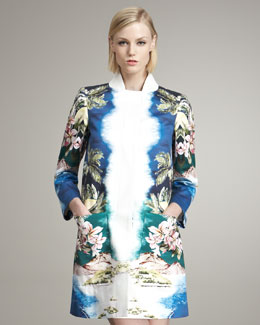 Stella McCartney Tropical-Print Coat
