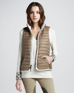 Burberry Brit Reversible Lightweight Puffer Vest