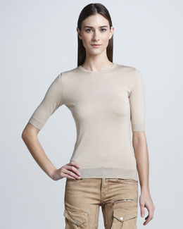 Ralph Lauren Black Label Cashmere-Silk Top