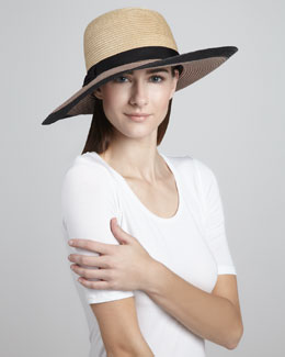 kate spade new york colorblock straw sun hat