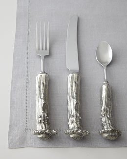 "Vagabond House Five-Piece ""Stag"" Pewter Flatware Place Setting"