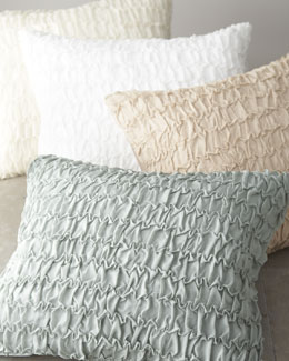 "Donna Karan Home Textured Pillow, 18"" x 22"""