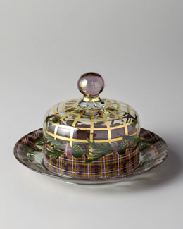 "MacKenzie-Childs ""Thistle"" Dome & Charger Set"