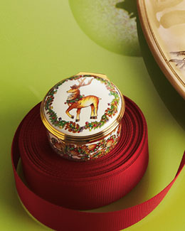 "Halcyon Days Enamels ""Reindeer"" Christmas Box"