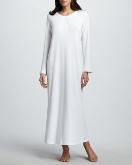 Hanro Jasmine Long-Sleeve Gown
