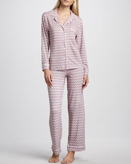 Eberjey Sleep Chic Zigzag Pajamas