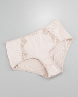 Hanro Maud Lace-Panel Briefs, Seashell
