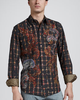Robert Graham Freshly Laundered Fulton Textured Paisley Sport Shirt