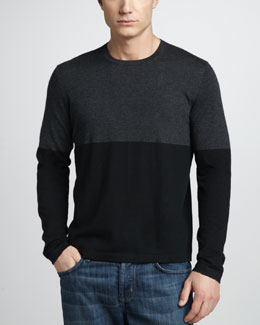 Neiman Marcus Colorblock Cashmere Sweater