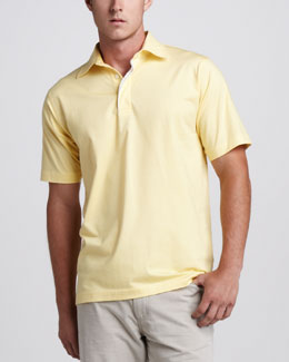 Ermenegildo Zegna Stretch-Knit Polo, Canary