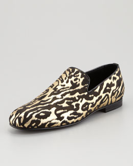 Jimmy Choo Sloane Leather Slipper, Zebra