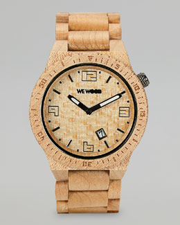 WeWood Watches Voyage Maple Wood Watch, Beige