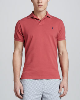 Polo Ralph Lauren Short Sleeve Pique Polo, Orange Red