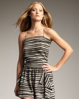 Kelly Wearstler Imari Striped Silk Camisole