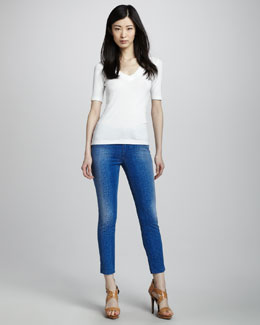 Joe's Jeans The High Water Viola Snake-Print Denim