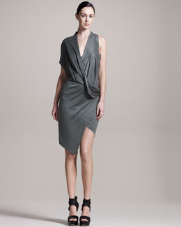 Helmut Lang Asymmetric Jersey Dress