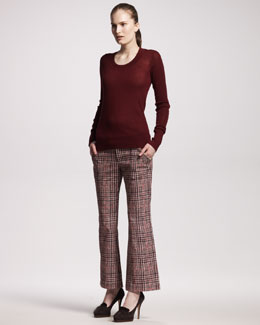 10 Crosby Derek Lam Plaid Boot-Cut Pants