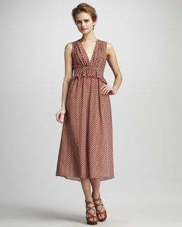 10 Crosby Derek Lam Printed Maxi Dress
