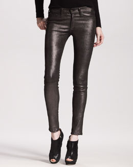 rag & bone/JEAN The Skinny, Anthracite Leather