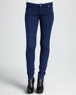 Vince Five-Pocket Skinny Jeans, Arctic Blue