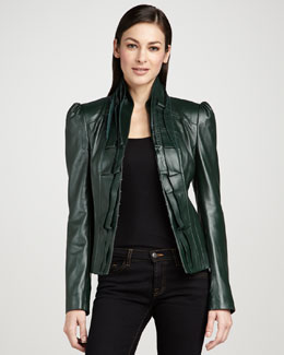 Bagatelle Laser-Cut Leather Jacket