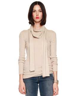 MICHAEL Michael Kors Crewneck Detachable Scarf