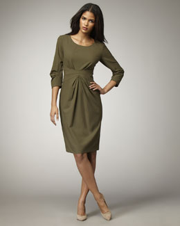 Lafayette 148 New York Gathered-Waist Dress