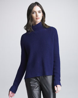 Vince Ribbed Turtleneck