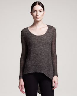 HELMUT Helmut Lang Alpaca-Blend Scoop-Neck Top