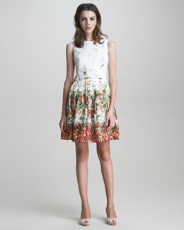 RED Valentino Strawberry-Print Cotton Dress