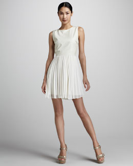 Erin by Erin Fetherston Pleated Fit-and-Flare Dress
