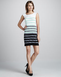 Milly Multi-Stripe Knit Dress