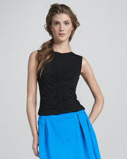 Nanette Lepore Arena Shirred-Front Top