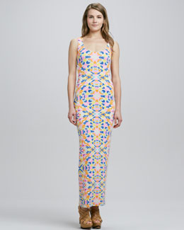 Mara Hoffman Aloha Jersey Fitted Maxi Dress