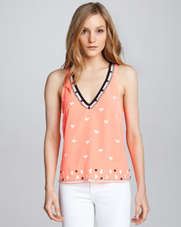 Nanette Lepore Sweet Connection Beaded Top