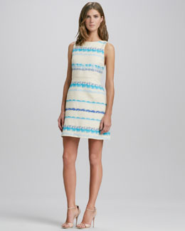 Alice + Olivia Everleigh Striped Strap-Back Dress