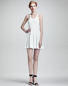 Rag & Bone Ivette Smocked Cotton Dress
