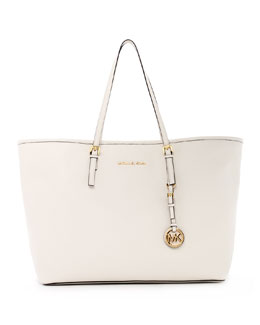 MICHAEL Michael Kors  Jet Set Medium Saffiano Travel Tote, Vanilla